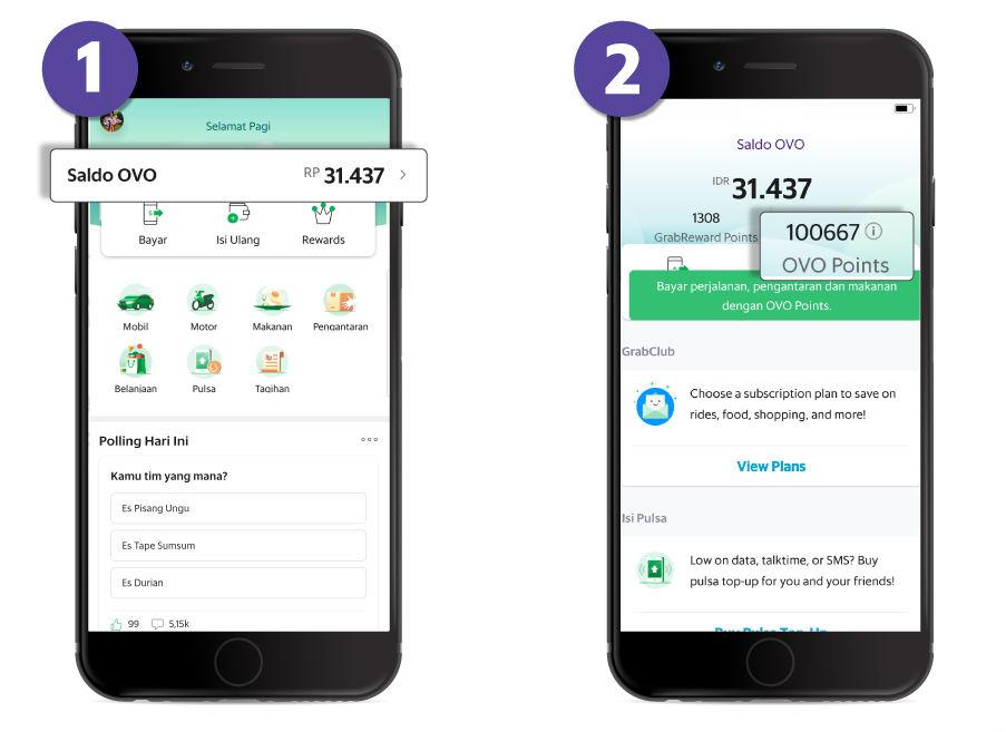 Cara membayar dengan OVO points - Passenger