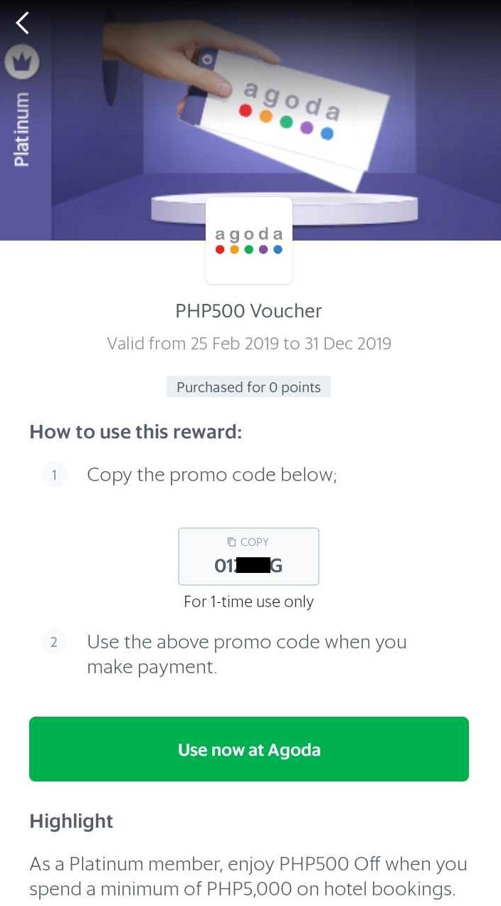 How to use my Agoda reward - Passenger