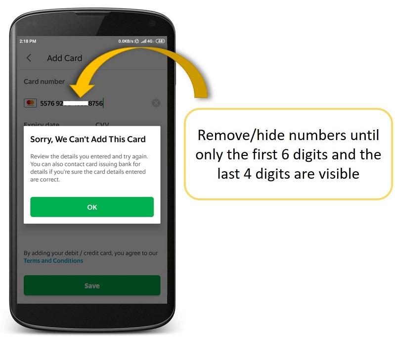 Saya Tidak Bisa Menambahkan Kartu Kredit Debit Di Aplikasi Grab Passenger